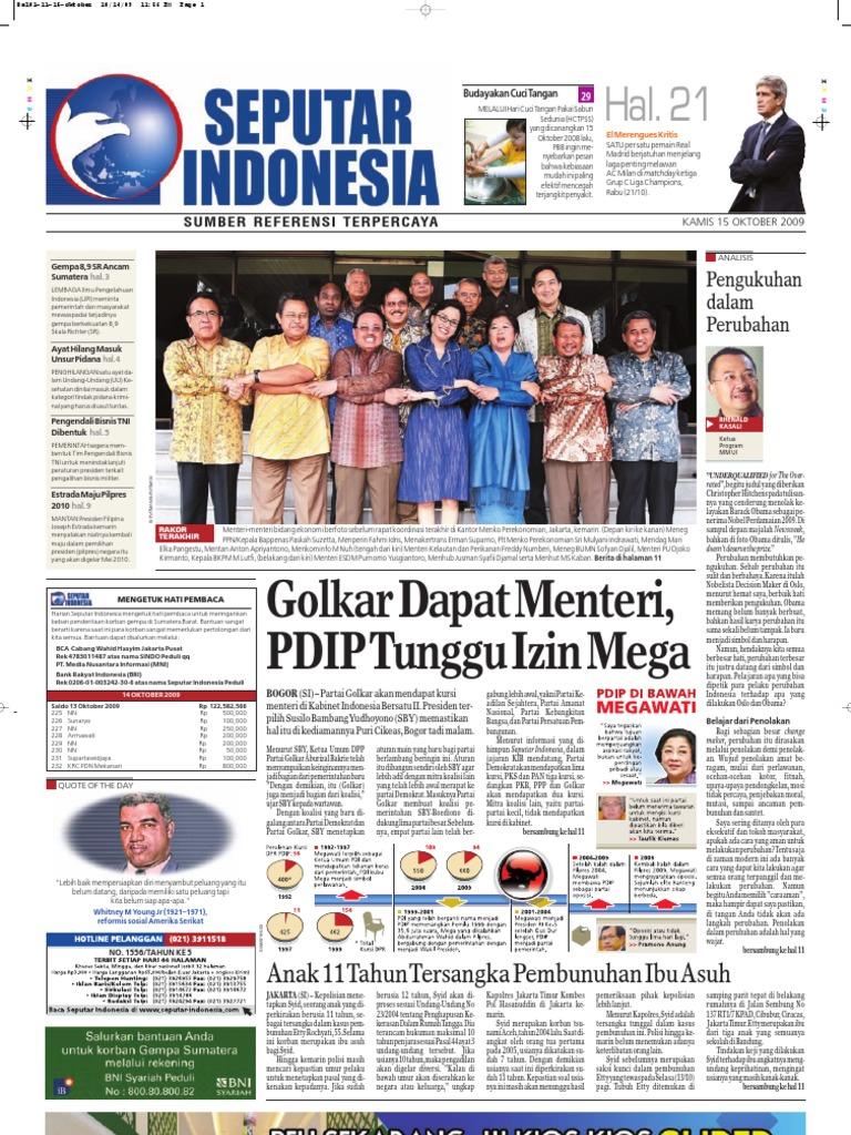 EPaper Harian Seputar Indonesia 15 Oktober 2009 52a8c0b751