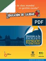 Educacion y Calidad Gestion Escolar