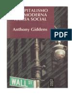 110726638 Giddens El Capitalismo y La Moderna Teoria Social