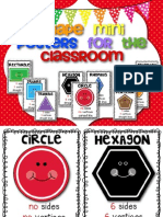 Freebie Shapes Mini Posters for the Primary Classroom
