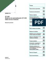 Sistema de automatización Modulos de control S7-300