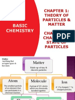 Theory of particle matter & changes in state of matter