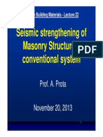 Lecture 22 - FRP Strengthening of Masonry Structures