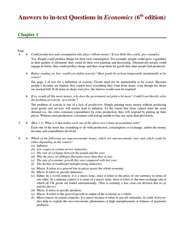 Answers to in text questions sloman j 6e supply economics demand fandeluxe Image collections