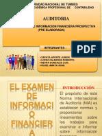 Diapo Auditoria- Nia Examen de Informacion Financiera Prospectiva
