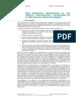 Vitoria-Gasteiz - Ordenanza Municipal Reguladora de los Usos, Tráfico, Circulación y Seguridad en las Vías Públicas de Carácer Urbano