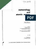 Meteorology and Atomic Energy Slade