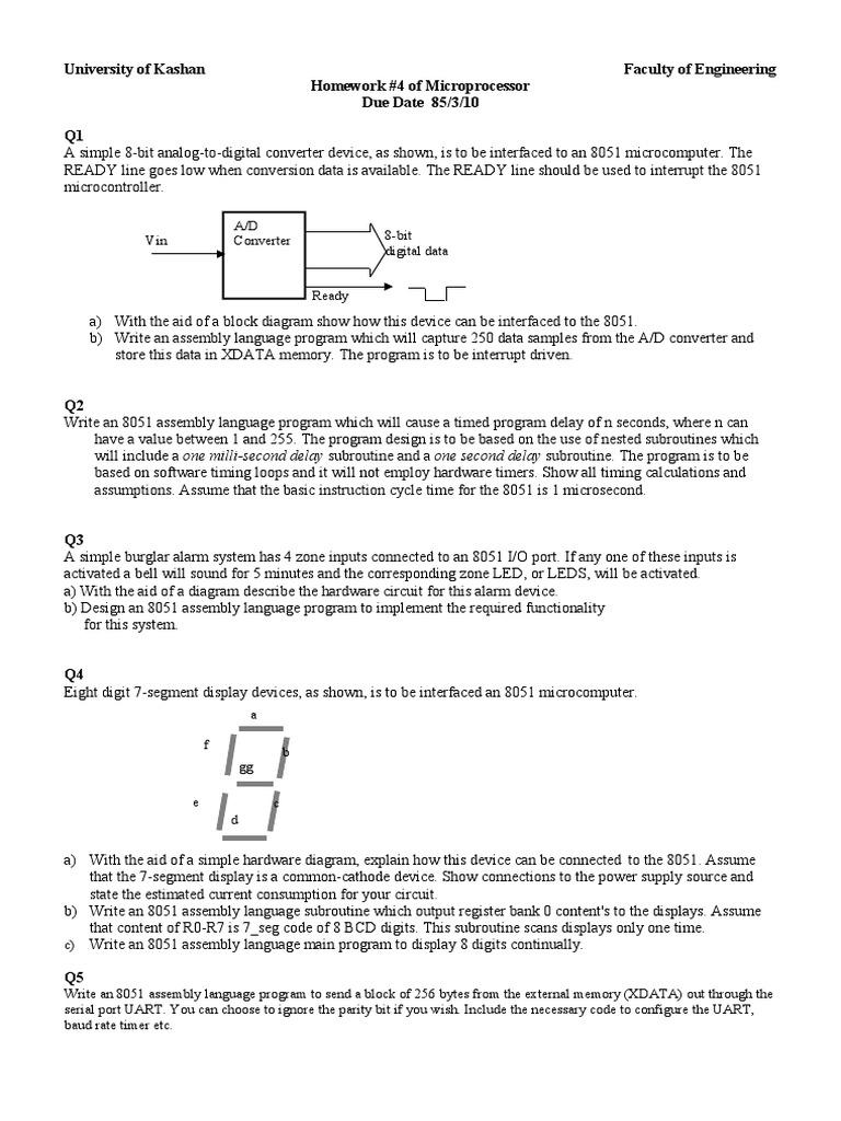 Hw Timer Microcontroller 8051 Basic Circuit Diagram
