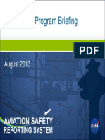 ASRS Program Briefing 2012