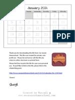Calendars for 2014