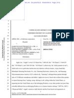 14-03-06 Order Denying Apple's Renewed Motion for Permanent Injunction Against Samsung