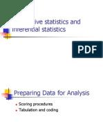 Descriptive and Inferential Statistics Part 1 2013 2014