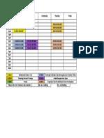 Timetable Sem2