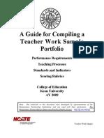 A Guide for Compiling a Portfolio -No Rubrics