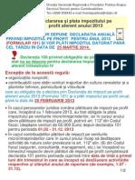 Definitivarea Impozitului Pe Profit 2013 (14.01.2014)
