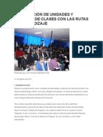 ELABORACIÓN DE UNIDADES Y SESIONES DE CLASES CON LAS RUTAS DE APRENDIZAJE