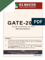 Civil Enginering Morning Session Gate 2014