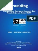 Prosiding Seminar Nasional Inovasi dan Pembelajaran Sains 2013 (SNIPS 2013)