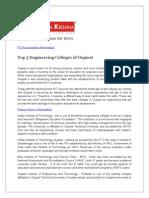 Top 5 Engineering Colleges of Gujarat