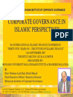 Corp Gov in Islam InternationalIslamicFinanceConference3SeptMonash-IBBM