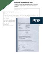 Type approval PIAS by Germanischer Lloyd