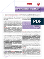 Manifiesto conjunto UGT-CCOO sobre el Día Internacional de la Mujer