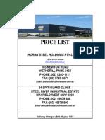 Horan Steel Pricing