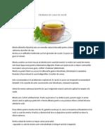 Sănătatea din ceaiul de mentă