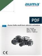 Actuator Catalogue for auma