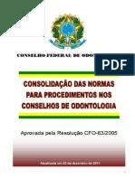 Resolução CFO-63.05_Consolidação Atualizada
