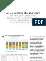Survey Monkey Questionnaire