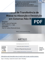 Seminário - Absorption and desorption mass transfer rates in non-reactive systems