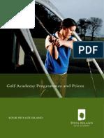 golf academy price list