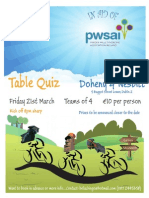 Galway Cycle 2014 Table Quiz