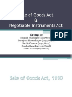 Sale of Goods Act & Negotiable Instruments Act