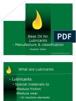 Base Oil Manufacture & Classification
