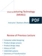 Manufacturing Technology (ME461) Lecture3