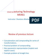 Manufacturing Technology (ME461) Lecture4