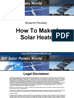 Solar Heater Blueprint