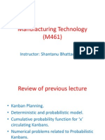 Manufacturing Technology (ME461) Lecture30