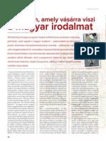 A program, amely vásárra viszi a magyar irodalmat