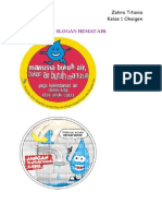 Slogan Hemat Air Zahra Titania