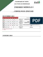 CALENDÁRIO ADMINISTRAÇÃO - METODOLOGIA EM EAD