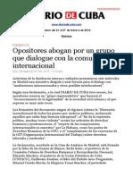 Boletín de Diario de Cuba   Del 21 al 27 de febrero de 2014