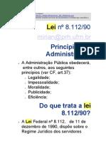 Resumo da Lei do Servidor Público 8112 Concurso Ministério Comunicação Out 2009