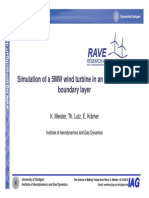 Simulation of a 5MW wind turbine in an atmospheric