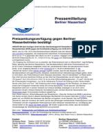 Pressemitteilung vom Berliner Wassertisch vom 24. Februar 2014