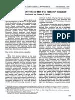 PRICE DETERMINATION IN THE U.S. SHRIMP MARKET