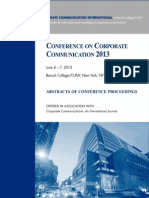 Abstracts Proceedings CCI CCC 2013