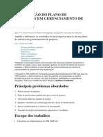 Elaboração do Plano de Carreiras em Gerenciamento de Projetos